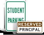 School Parking Lot Signs