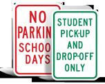 School Zone Parking Signs