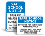 School Policy Signs
