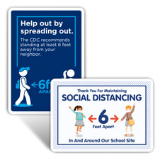 School Social Distancing Signs