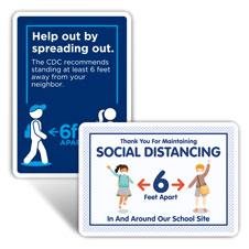 School Social Distancing Signs