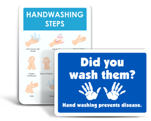 School Wash Your Hands Signs