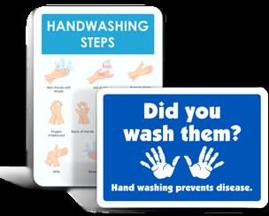 School Wash Your Hands Signs
