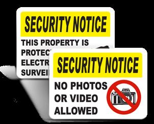 Security Notice Signs