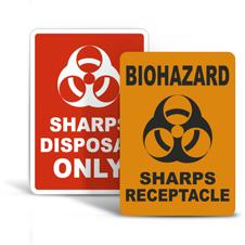 Sharps Disposal Signs
