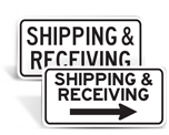 Shipping and Receiving Signs