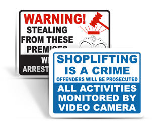 Shoplifting Signs