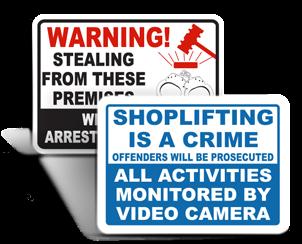 Shoplifting Signs