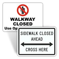 Sidewalk Closed Signs