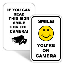 Smile You're on Camera Signs