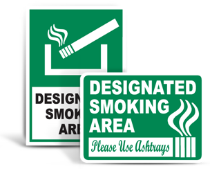 Smoking Allowed Signs