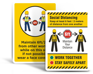 Social Distancing Construction Signs