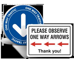 Social Distancing Directional Arrows