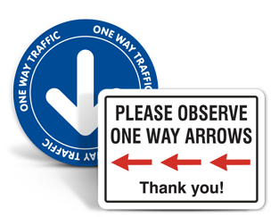 Social Distancing Directional Arrows