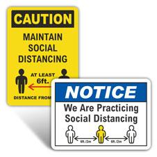 Custom Social Distancing Signs