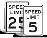 School Speed Limit Signs