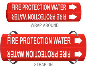 Fire Sprinkler Pipe Markers