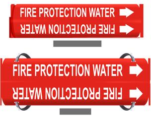 Fire Sprinkler Pipe Markers