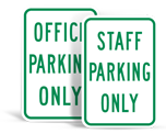 Staff Parking Signs