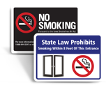 No Smoking Signs by State