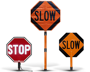 Stop-Slow Paddles and Signs