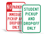 Student Drop Off Signs