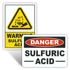 Sulfuric Acid Signs