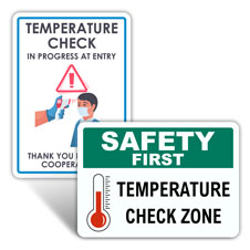 School Temperature Check Signs