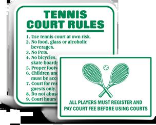 Tennis Court Signs