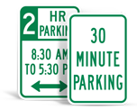 Time Limited Parking Signs