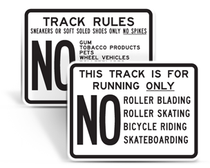 Track and Field Signs