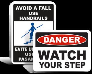 Trip Hazard Signs