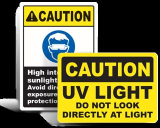 UV Safety Signs