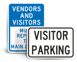 School Visitor Parking Signs