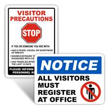 School Visitor Signs