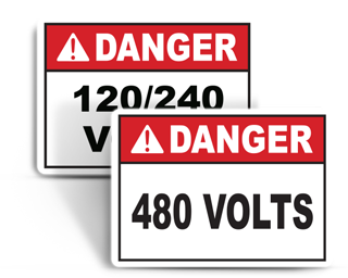 Voltage Rating Signs