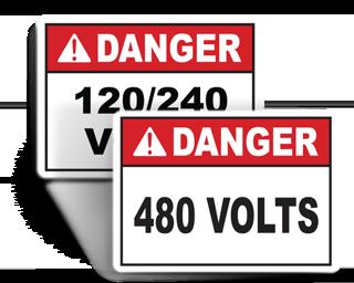 Voltage Rating Labels