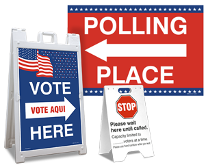 Voting Place Signs
