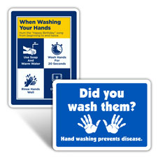 Wash/Sanitize Your Hands Signs