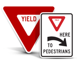 Yield Road Signs