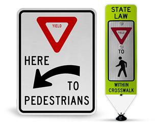 Yield to Pedestrian Signs
