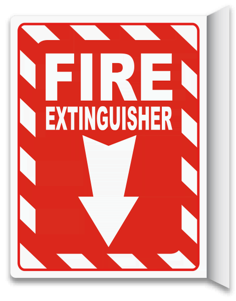 Fire Extinguisher 2-Way Sign A5023 - by SafetySign.com