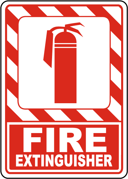 image relating to Printable Fire Extinguisher Sign referred to as Hearth Extinguisher Indicator