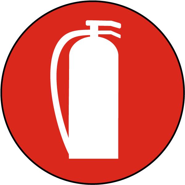 Fire Extinguisher Symbol Floor Sign A5070