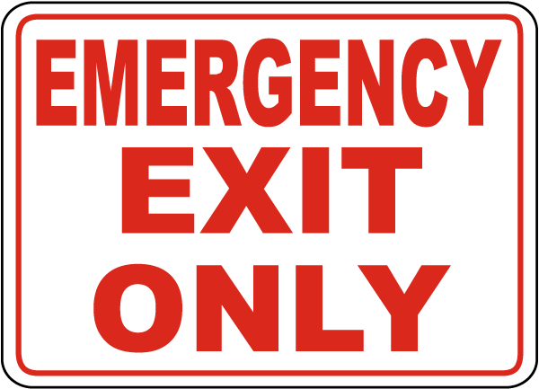 Emergency Exit Only Sign by SafetySign.com - A5167