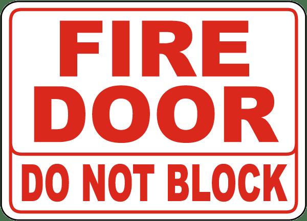 Do Not Block Door : Fire door do not block sign a by safetysign