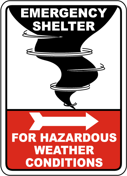 emergency shelter for weather sign a5188 -safetysign
