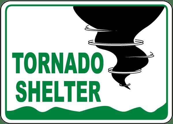 tornado shelter sign a5195 -safetysign