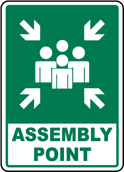 Part 2 Emergency and Fire assembly point signs range of sizes
