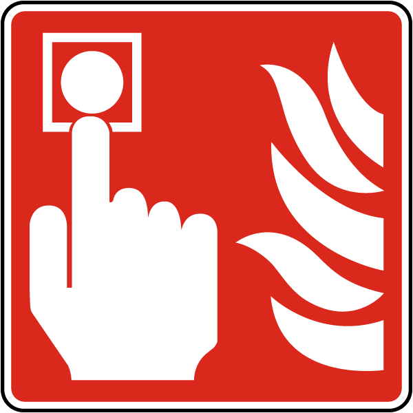 Manually Activated Fire Alarm Sign A5382
